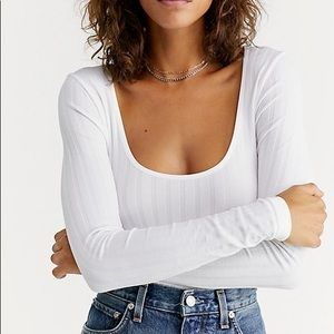 Free People White Lucky You Layering (XS)